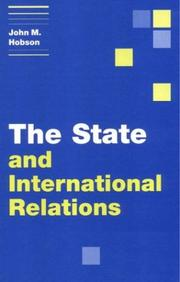 Cover of: The State and International Relations (Themes in International Relations)