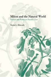 Cover of: Milton and the Natural World
