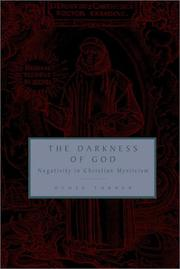 Cover of: The darkness of God