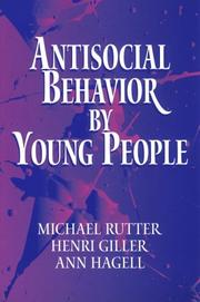 Cover of: Antisocial behavior by young people