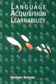 Cover of: Language acquisition and learnability |