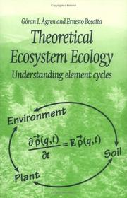 Cover of: Theoretical ecosystem ecology