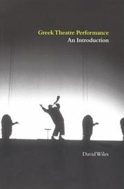 Cover of: Greek theatre performance