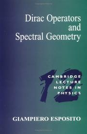 Dirac operators and spectral geometry