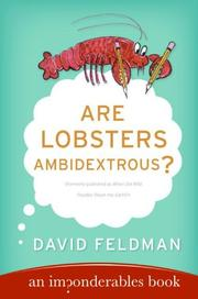 Cover of: Are lobsters ambidextrous?