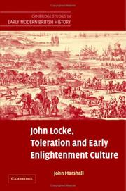 Cover of: John Locke, Toleration and Early Enlightenment Culture