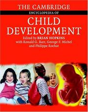 Cover of: The Cambridge Encyclopedia of Child Development | Ronald G. Barr