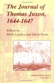 Cover of: The Journal of Thomas Juxon, 16441647