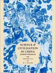 Cover of: Science and Civilisation in China | H. T. Huang