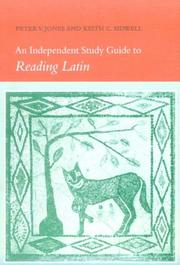 Cover of: An Independent Study Guide to Reading Latin | Peter V. Jones