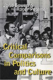 Cover of: Critical Comparisons in Politics and Culture |