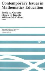 Cover of: Contemporary issues in mathematics education |