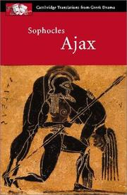 Cover of: Ajax | Sophocles