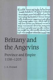 Cover of: Brittany and the Angevins