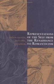 Cover of: Representations of the self from the Renaissance to Romanticism |