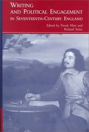 Cover of: Writing and Political Engagement in Seventeenth-Century England