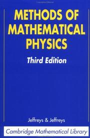 Cover of: Methods of mathematical physics