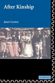 Cover of: After Kinship (New Departures in Anthropology) | Janet Carsten