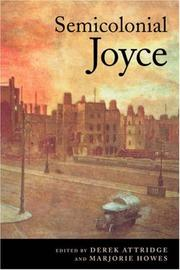 Cover of: Semicolonial Joyce
