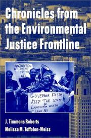 Cover of: Chronicles from the Environmental Justice Frontline | J. Timmons Roberts