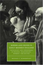 Cover of: Bodies and selves in early modern England