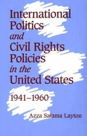 Cover of: International politics and civil rights policies in the United States, 1941-1960