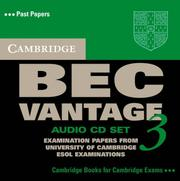 Cover of: Cambridge BEC Vantage 3 Audio CD Set (BEC Practice Tests)