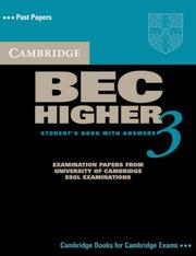 Cover of: Cambridge BEC Higher 3 Student's Book with Answers (BEC Practice Tests)