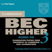 Cover of: Cambridge BEC Higher 3 Audio CD (BEC Practice Tests)