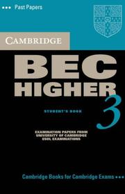 Cover of: Cambridge BEC Higher 3 Audio Cassette (BEC Practice Tests)