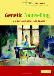 Cover of: Genetic Counselling | Christine Evans