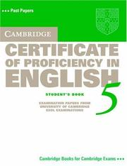 Cover of: Cambridge Certificate of Proficiency in English 5 Student's Book