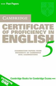 Cover of: Cambridge Certificate of Proficiency in English 5 Cassette Set