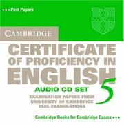 Cover of: Cambridge Certificate of Proficiency in English 5 Audio CD Set