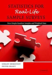 Cover of: Statistics for real-life sample surveys by