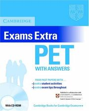 Cover of: Cambridge Exams Extra PET Student's Book with Answers and CD-ROM (PET Practice Tests)