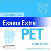 Cover of: Cambridge Exams Extra PET Audio CD Set (PET Practice Tests)