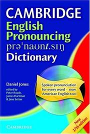 Cover of: English Pronouncing Dictionary with CD-ROM