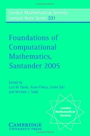 Cover of: Foundations of Computational Mathematics, Santander 2005 |