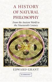 Cover of: A History of Natural Philosophy: From the Ancient World to the Nineteenth Century