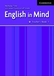 Cover of: English in Mind 3 Teacher's Book by Nicholas Tims, Herbert Puchta, Jeffrey Stranks