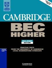 Cover of: Cambridge BEC Higher 1