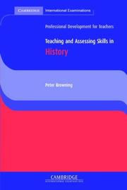 Cover of: Teaching and Assessing Skills in History (Cambridge International Examinations)
