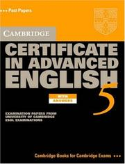 Cover of: Cambridge Certificate in Advanced English 5 Student's Book with Answers