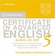 Cover of: Cambridge Certificate in Advanced English 5 Audio CD Set