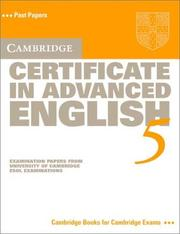 Cover of: Cambridge Certificate in Advanced English 5 Student's Book