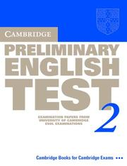 Cover of: Cambridge Preliminary English Test 2 Student's Book
