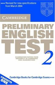 Cover of: Cambridge Preliminary English Test 2 Audio Cassette Set