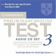 Cover of: Cambridge Preliminary English Test 3 Audio CD Set