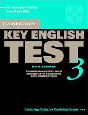 Cover of: Cambridge Key English Test 3 Student's Book with Answers